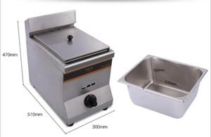 HY-71 Gas Fryer (1Tank1Basket) Twist, pierna de pollo, alitas de pollo y barras de masa frita, freidora de gas chips, alto horno
