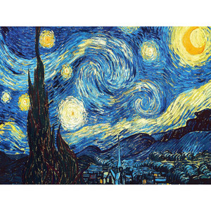 Decoração de casa DIY 5D Diamante Bordado Van Gogh Starry Night Cross Stitch kits Resina Pintura A Óleo Abstrata Hobby Artesanato zx