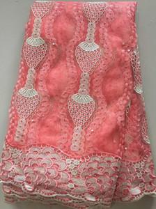 Mais recentes Francês Laços Nigerianos Tecidos de Alta Qualidade Tule Africano Laços de Tecido de Casamento Africano Francês Tulle Rendas Cll3242