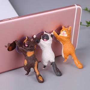 Chespest! Kreative neue katzenhalter cartoon handy stand saugnapf rettungs armee handyhalter kätzchen exquisite geschenk