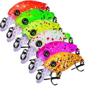 Leurre de pêche au laser en plastique Mini ABS Rattlin 6 couleurs 4.7cm 3.3g Pêche en eau douce peint à la mouche Bionic