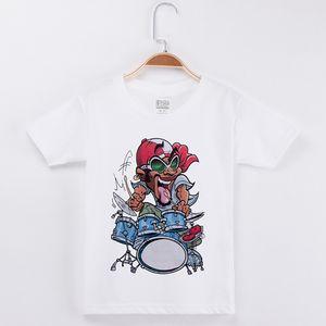 2018 New Chidren Clothes Kids T-shirts Rock Band Drums Imprimir 100% algodón Chid Shirt Boy Short T-Shirts Baby Girl Tops Teen Tee Envío gratis