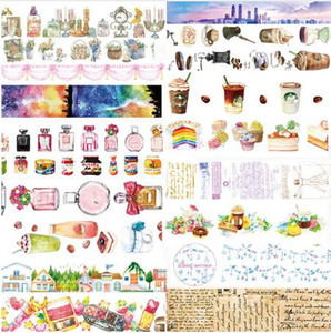 1 pcs Washi Tapes Perfume Coffee DIY Paper Masking tape Decorative Adhesive Tapes Scrapbooking Stickers 2016