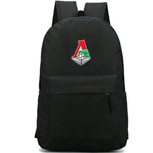 Lokomotiv Moscow backpack nice day pack جديد حقيبة مدرسية لكرة القدم packsack فريق كرة القدم حقيبة الظهر الرياضة المدرسية daypack حقيبة الظهر