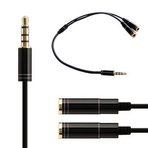 스테레오 분배기 케이블 1 - 여성 오디오 라인 남성용 3.5mm 오디오 분배기 헤드셋 마이크 MP3 MP4를위한 아이팟