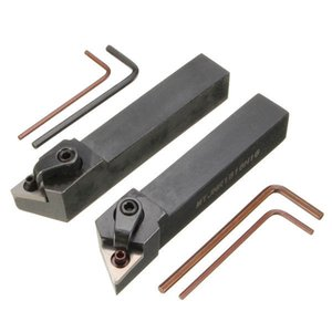 2шт MTJN 16x100mm токарный внешний поворотный Держатель инструмента для вставок TNMG1604