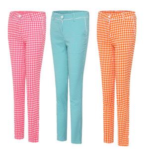 dame pantalons de golf pantalon grille femmes d'été sport printemps tissu haut de golf de fille vêtements match pantalon de survêtement de marque respirant treillis