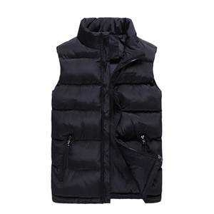 6XL Plus Größe Sleeveless Jacke Weste Männer 2018 Neue Solid Frauen Puffer Weste Cotton-Padded Wintermantel Casual Male Vest Zipper