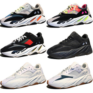 Remise Kanye West Wave Runner 700 Bottes Gris Chaussures de course pour homme 700s femmes Sport Baskets formateurs outdoor designer Causal chaussures