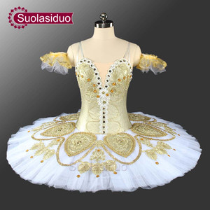 Adult Gold Ballet Tutu Fashion Stage Wear Costumes The Nutcracker Ballet Dance Performance Competition Apperal Girls Ballet Dresses