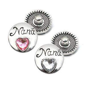 Haute qualité W311 bouton nana métal strass 18 mm 20 mm pour bouton-pression Bracelet Bijoux Collier pour les femmes bijoux en argent