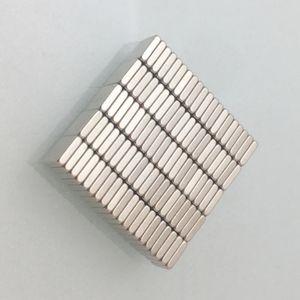 Heißer Verkauf 100pcs Super Strong Kleiner Block Neodym Magnete 4x4x1mm Seltenes Erde-Neodym-Magnet-Kunst-Fertigkeit Kühlschrank freies Verschiffen