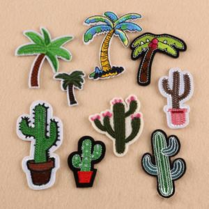 Applique Remendo Planta Cactus parch Bordado de Ferro em Patches para Roupas Roupas Listras Coqueiros Adesivos Emblemas Personalizados
