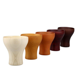 Primitive Natural Wooden Cup Wine Tea Juice Beer Wood Cup Teacups Drinkware Kitchen Bar Accessories ZA6865