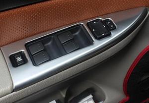 Высокое качество нержавеющей стали 4шт автомобиля окно переключатель украшения крышки двери внутри подлокотника скребок для Mazda6 2003-2013