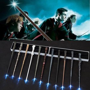 LED Light Up13 Styles Hogwarts Magic Wand New Upgrade Resin Harry Potter Magical Wand HCY002