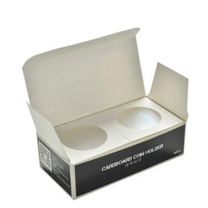 """50PC 2X2"""" de 35 mm Portamonedas Ronda Artículos Numismáticos Colección Faro de cartón portasellos cubierta de la caja de almacenamiento"""