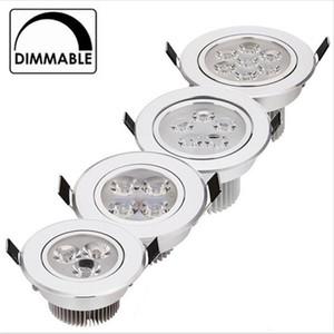 9 W 12W LED Gömme Dim Sıcak Beyaz Doğa Beyaz Saf Beyaz Gömme LED Lamba Spot Işık AC85-265V