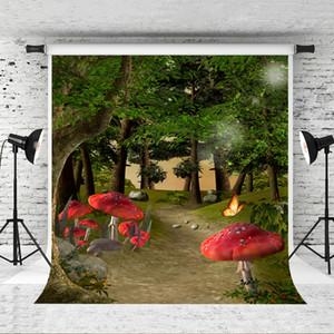 Dream 5x7ft Fairy Forest Фотография Фон для Детей Вечеринка Fairy World Фон Photo Booth Зеленое Дерево Фоны Studio Prop