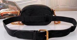 Yeni tasarımcı adı kadife bel çantaları kadın erkek mektup omuz çantaları Kemer Omuz Çantası Kadın Çantaları Çanta fuunyt paketi SIZE18X12X6CM
