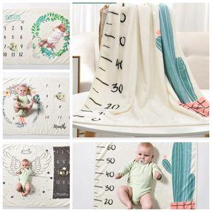 70 * 102 cm Bebê Milestone Cobertor Fotografia Fundo Prop Para Recém-nascido Swaddle Meninos Da Menina Cobertor Super Macio da Criança envolve KKA5200