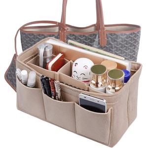 Eklemek Çanta Keçe Organizatör Çanta Çanta Çanta Torbaları Için Tote Saklama çantası, Kozmetik Tuvalet Çanta Speedy Neverfull uyuyor