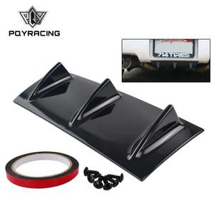 PQY - ABS plastique universel noir pare-chocs arrière pare-chocs diffuseur aileron 3 aileron de requin aileron style PQY-SFB04-3