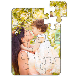 blank puzzle for dye sublimation heart transfer printing pearl light White paper puzzles customization sublimation diy puzzles child toys