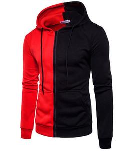 2018New tarzı erkek giyim Avrupa ve Ameria bölgesinde popüler olan tüm renkleri kapsayan hoodiefashion spor ceket.
