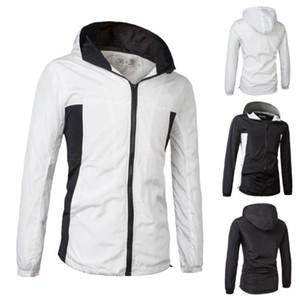 Черно-белые панели мужские дизайнер зимнее пальто повседневная куртка с капюшоном спортивная ветровка мужской кардиган толстовки Мужская одежда