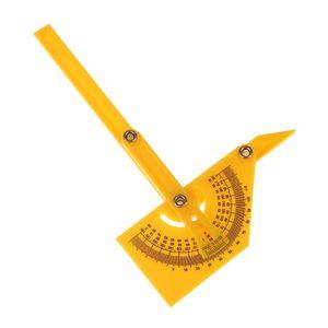 Многофункциональный угломер линейки транспортир складной угол 180 градусов шаблон транспортир измерительные приборы