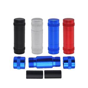 Caso de aluminio del espacio de la aleación polen Prensa Hash Comprimir Con 2 Metal Pasador barras de metal de prensa polen metal fumadores Pipas de agua o de la lima