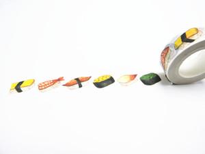 2016 Nueva Impresión Washi Tape Office Adhesivo Scrapbooking Herramientas Kawaii Decorativo Gran Navidad Lindo Arte Regalo Sushi
