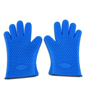 Kitchen Heat Resistant Gloves Temperature Resistant Glove Silicone Glove Cooking Baking BBQ Oven Gloves