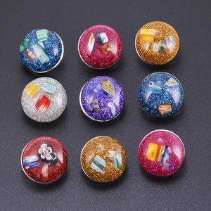Nova resina fluorescente de alta qualidade 18mm botão de pressão 10 pçs / lote adequado para as mulheres pulseira colar de jóias acessórios YLR133