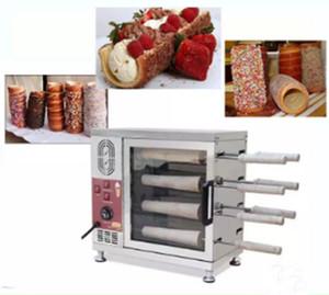Populaire Hongrie gâteau de cheminée four commercial cheminée électrique automatique rouleau gâteau four pain machine 110v 220v LLFA