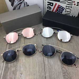 Brand Vintage Sunglasses Men Eyeglasses Frames with Sunglasses Lens Fashion Retro Spectacle Frame Women Optical Glasses with Original Case