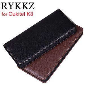 venta al por mayor cubierta de cuero del tirón del cuero de lujo para Oukitel K8 6 '' soporte móvil para Oukitel K8 Oukitel K6 cubierta de la caja del teléfono de cuero