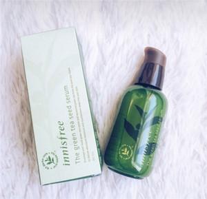 Crema de Cuidado de la venta caliente Corea INNISFREE verde botella CREMA DEL té verde Seed Serum Hidratante Facial Loción 80ML nueva cara de la piel