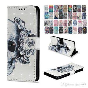 3D Сова цветок бабочки Печатный бумажник Флип Стенд PU кожаный чехол для iphone X XS Max XR Galaxy S9 Plus Note 8