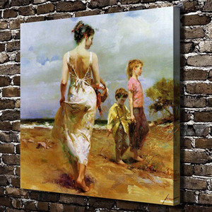 Famous Pino - Happy time Handpainted & HD Print Home Decor Wall Art oil painting High Quality Thick Canvas .Multi sizes p183