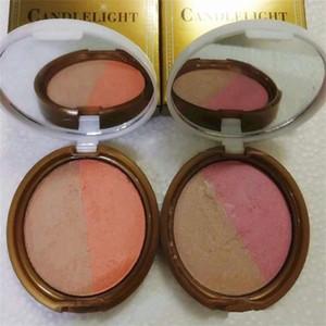 Nuevo en stock !! maquillaje hecho a mano resplandor de luz de las velas en relieve polvo cálido resplandor Rosy Glow 10g 2 colores paleta DHL envío gratis