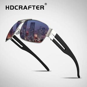 HDCRAFTER Марка унисекс ретро алюминиевые солнцезащитные очки поляризованные линзы старинные очки аксессуары вождения солнцезащитные очки для мужчин/женщин