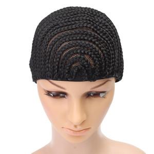 Cornrow парик Cap для изготовления париков регулируемый черный цвет крючком плетеный ткачество Cap кружева Elasti Hairnet укладка волос инструмент
