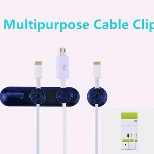 Multifonctionnel Téléphone Mobile Câble Organisateur Organisateur Bouton Magnétique Bouton USB Câble Ligne De Données Clip Pour Câble Protégé Titulaire livraison gratuite