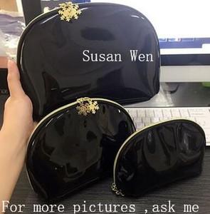 Снежинка молния известный бренд косметичка мода роскошный макияж организатор сумка глянцевая черная сумка для C наркоманов