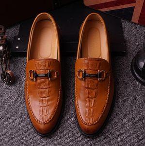 Scarpe da uomo di alta qualità in vera pelle scarpe da festa da sposa uomo mocassini fibbia degli uomini d'affari vestito slip on scarpe mocassino homme delocrd
