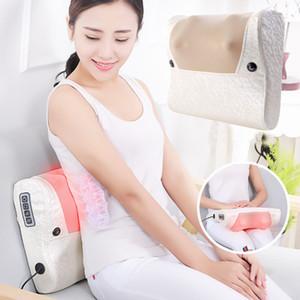 Cuscino elettrico riscaldato Massaggiatore cervicale Collo collo a spalla Vita Massaggio Pad Strumento Home Multifunzione Cuscino per massaggi corpo completo