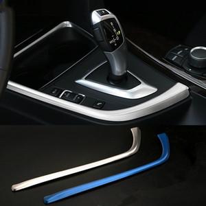 Centro de acero inoxidable del coche Consola Apoyabrazos de Montaje para BMW serie GT 4/3 F30 F32 F34 central del cambio de velocidad Panel decorativo de Gaza de las lentejuelas