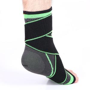 Soporte de tobillo para deportes de 1 Pc / Lot Soporte de compresión ajustable y transpirable elástico para el pie para reducir la hinchazón y estabilizar el tobillo